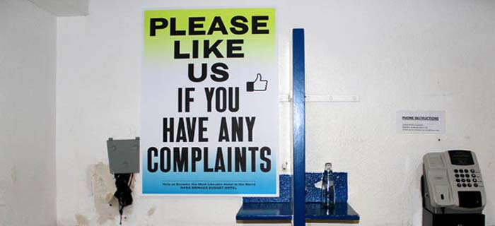 Hans Brinker: Like us if you have any complaints